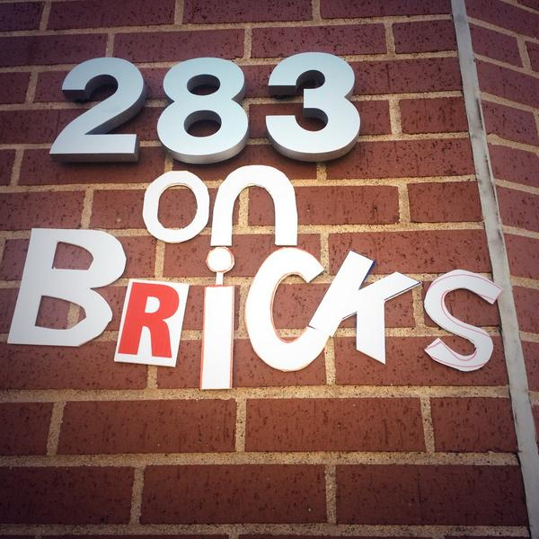 on bricks